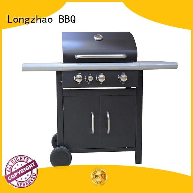 Longzhao BBQ stainless steel gas barbecues grills free shipping for cooking