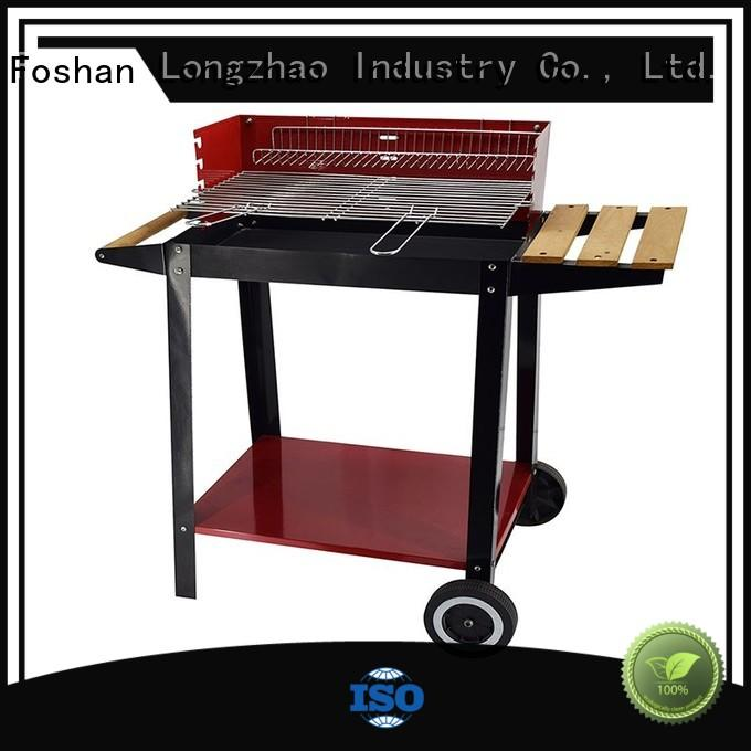 Longzhao BBQ Brand shape burning best charcoal grill wheels factory