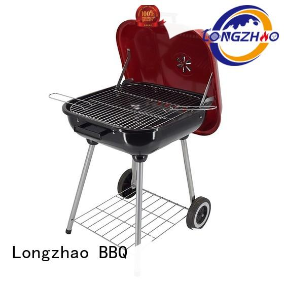 pumpkim red gas barbecue bbq grill 4+1 burner burning Longzhao BBQ company