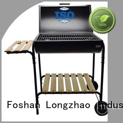 Longzhao BBQ Brand round foldable black disposable bbq grill near me hot selling
