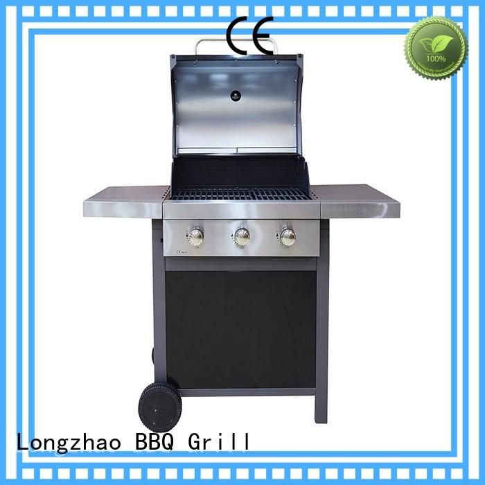 stainless steel half gas grill half griddle plancha for cooking Longzhao BBQ