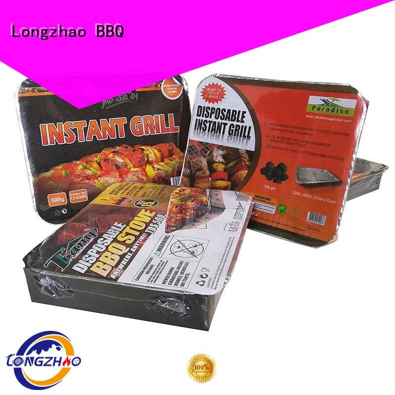 low price Custom large light best charcoal grill Longzhao BBQ camping