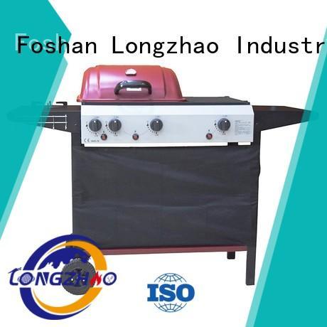 Wholesale trolley liquid gas grill Longzhao BBQ Brand
