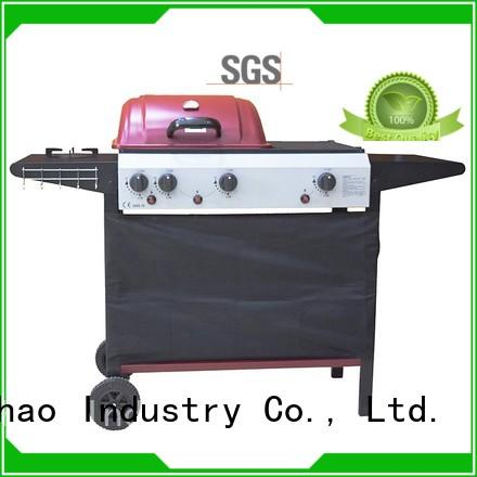 silver hot selling 2 burner gas grill stainless Longzhao BBQ company