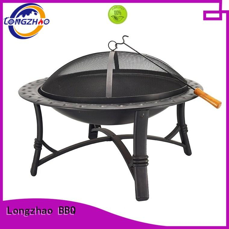 wood charcoal table liquid gas grill stainless Longzhao BBQ