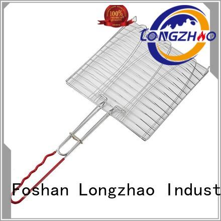 Longzhao BBQ folding folding grill basket best quality for charcoal grill