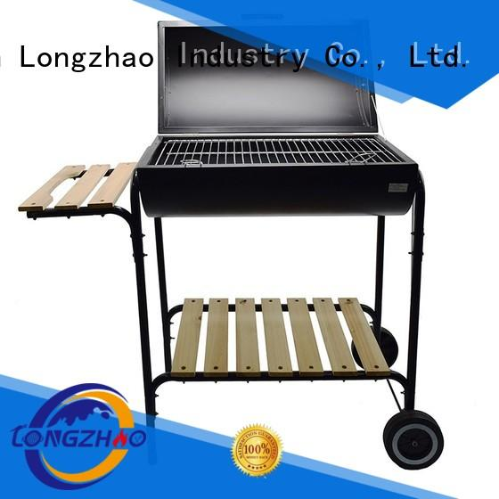 Longzhao BBQ stainless 12 inch grills trolley for barbecue
