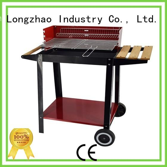 wood stainless steel cooking surface grill barren for camping Longzhao BBQ