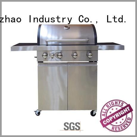 Hot stainless 2 burner gas grill butane Longzhao BBQ Brand