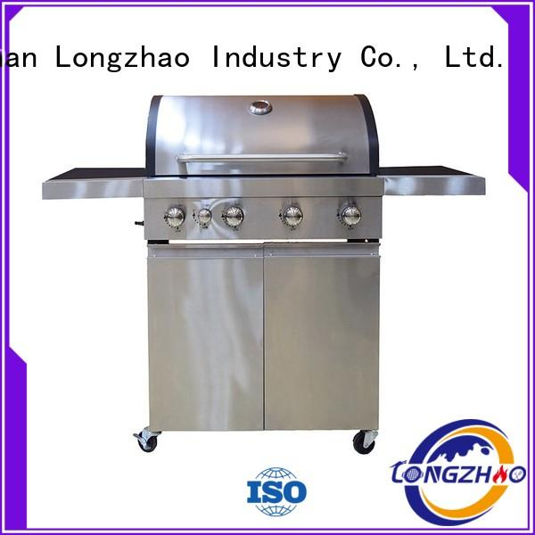 stainless steel portable folding gas grill barbecue for cooking Longzhao BBQ