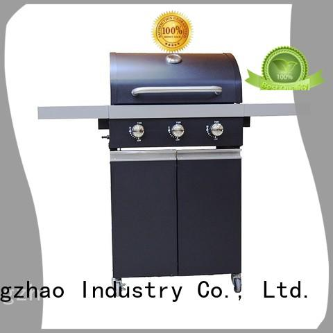 stainless steel cast iron charcoal grill trolley for cooking