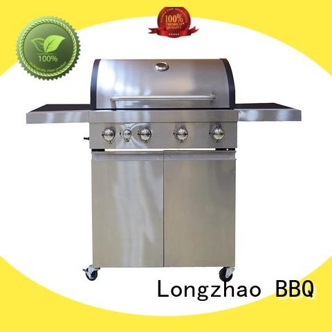 Longzhao BBQ easy moving cheap gas grills side for cooking
