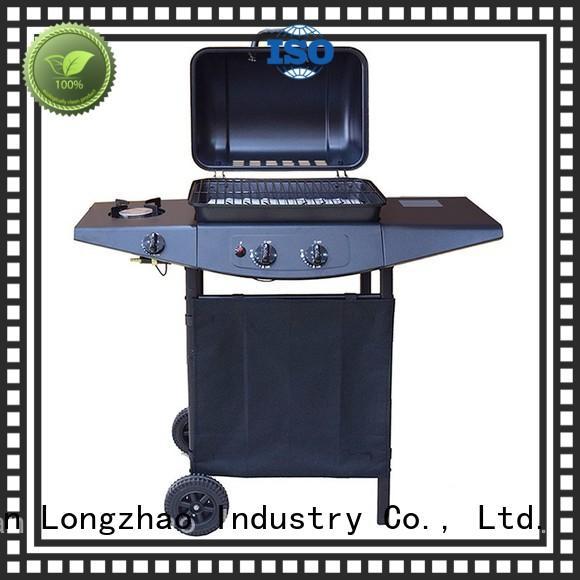 hood Custom burners tabletop best gas bbq Longzhao BBQ iron