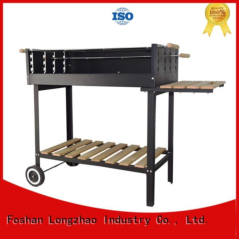 Trolley Charcoal BBQ Grill Garden Heating Smoker
