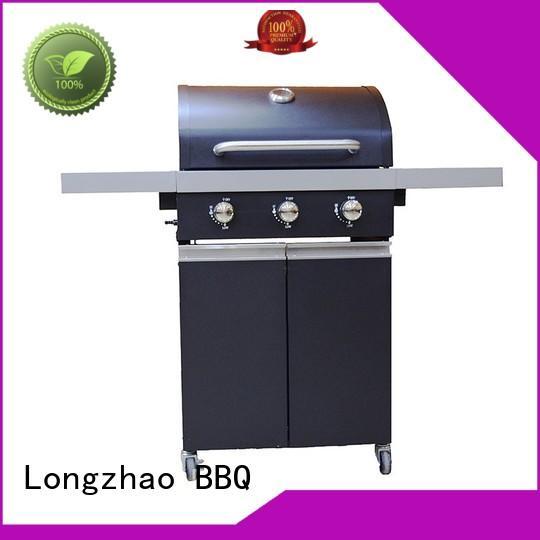 Longzhao BBQ Brand easy stainless custom 2 burner gas grill