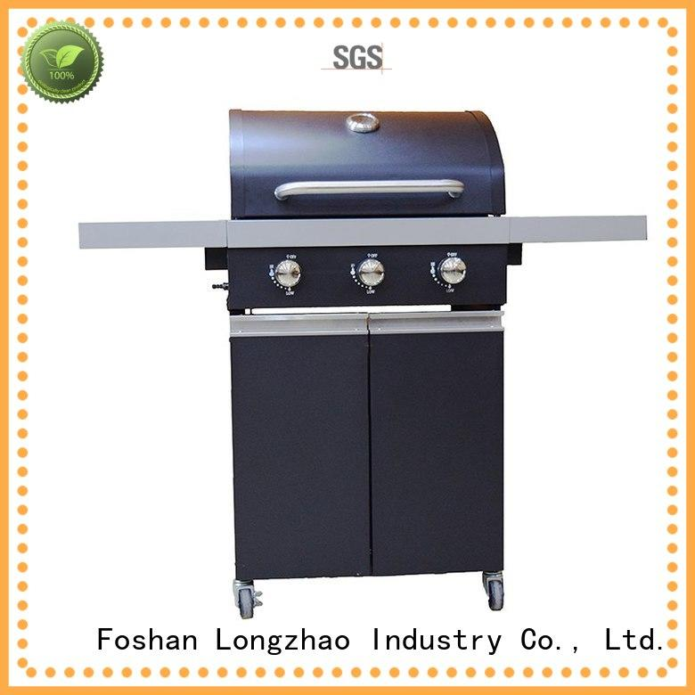 Longzhao BBQ classic black and silver gas grill griddle for garden grilling