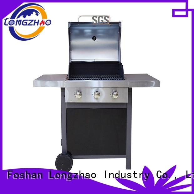 Longzhao BBQ large storage tabletop Gas Grill burners for garden grilling