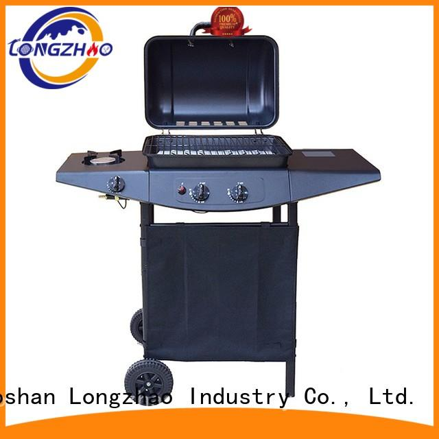 gas barbecue bbq grill 4+1 burner silver liquid hood liquid gas grill manufacture