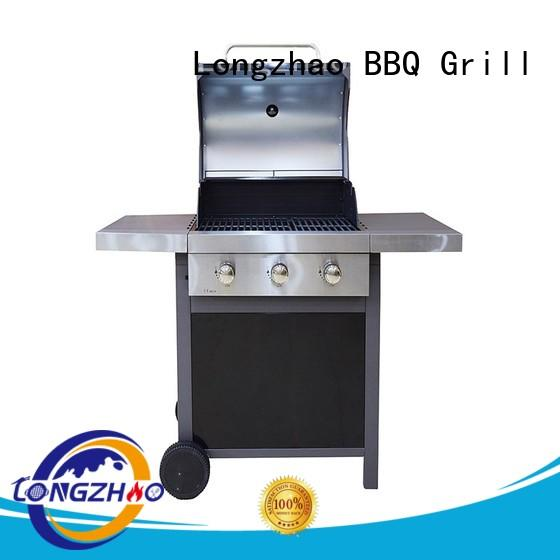 Longzhao BBQ easy moving cast iron charcoal grill fast delivery for cooking