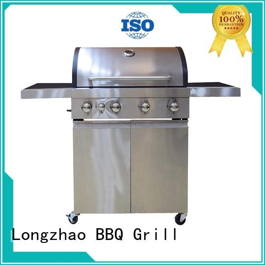 Longzhao BBQ large base natural gas bbq grill fast delivery for cooking