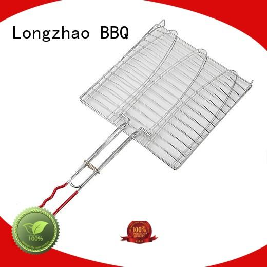 folding grill basket manufacturer direct selling bbq Longzhao BBQ Brand company