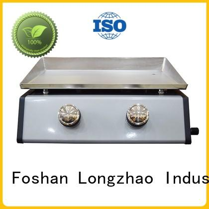 Longzhao BBQ portable 2 burner gas grill for garden grilling