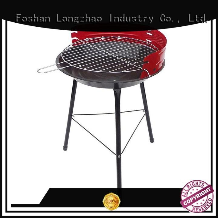 pit wood burning fire pit and grill side for outdoor cooking Longzhao BBQ