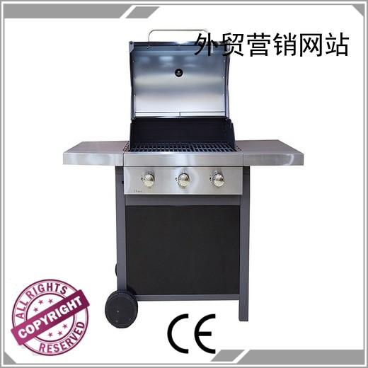 stainless moving 2 burner gas grill classic Longzhao BBQ company