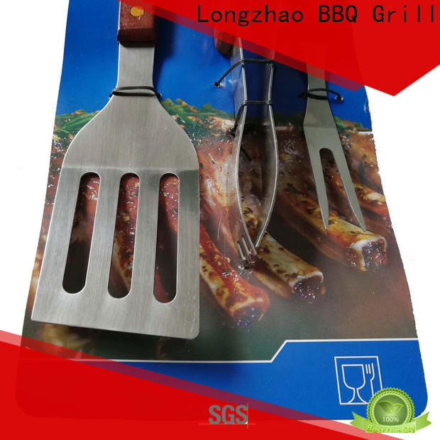 Longzhao BBQ grill utensil set hot-sale for gas grill