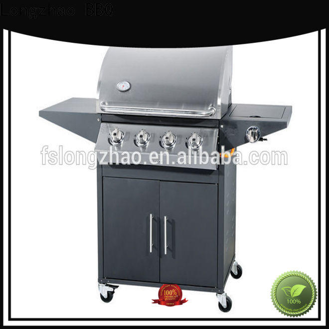 Longzhao BBQ high quality 4burner gas grill manufacturer for grilling
